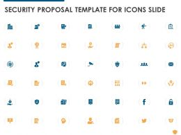 Security Proposal Template For Icons Slide Ppt Powerpoint Presentation Portfolio Show