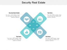Security Real Estate Ppt Powerpoint Presentation Gallery Professional Cpb