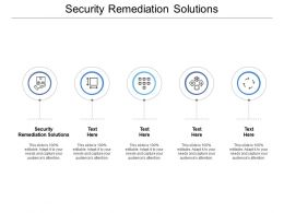 Security Remediation Solutions Ppt Powerpoint Presentation Icon Information Cpb