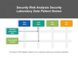 Security Risk Analysis Security Laboratory Data Patient Homes