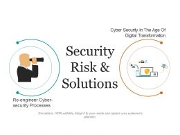 Security Risk And Solutions Presentation Layouts