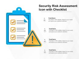 Security Risk Assessment Icon With Checklist