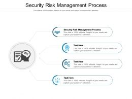 Security Risk Management Process Ppt Powerpoint Presentation File Vector Cpb