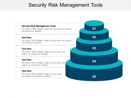 Security Risk Management Tools Ppt Powerpoint Presentation Infographics Icon Cpb