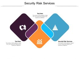 Security Risk Services Ppt Powerpoint Presentation File Outline Cpb