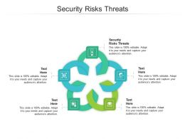 Security Risks Threats Ppt Powerpoint Presentation Layouts Templates Cpb