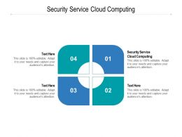 Security Service Cloud Computing Ppt Powerpoint Presentation Inspiration Cpb