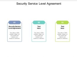 Security Service Level Agreement Ppt Powerpoint Presentation File Slide Download Cpb