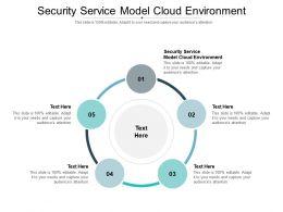 Security Service Model Cloud Environment Ppt Powerpoint Presentation Portfolio Deck Cpb