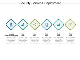 Security Services Deployment Ppt Powerpoint Presentation Outline Example Cpb