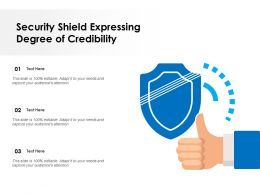 Security Shield Expressing Degree Of Credibility