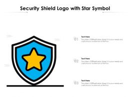 Security Shield Logo With Star Symbol