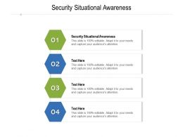 Security Situational Awareness Ppt Powerpoint Presentation Pictures Layout Cpb
