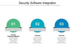 Security Software Integration Ppt Powerpoint Presentation Show Clipart Images Cpb