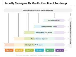Security Strategies Six Months Functional Roadmap