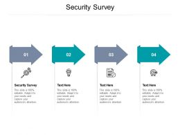 Security Survey Ppt Powerpoint Presentation Summary Introduction Cpb