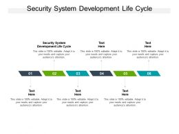 Security System Development Life Cycle Ppt Powerpoint Presentation Model Images Cpb