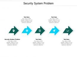 Security System Problem Ppt Powerpoint Presentation Show Themes Cpb