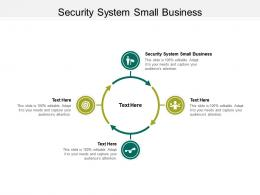 Security System Small Business Ppt Powerpoint Presentation Portfolio Backgrounds Cpb