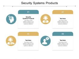 Security Systems Products Ppt Powerpoint Presentation File Information Cpb