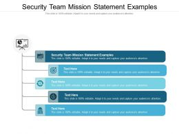 Security Team Mission Statement Examples Ppt Powerpoint Presentation Visual Aids Background Images Cpb