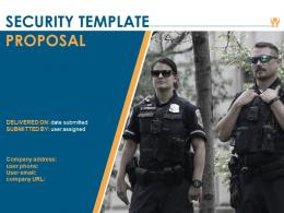 Security Template Proposal Powerpoint Presentation Slides