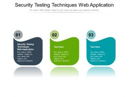 Security Testing Techniques Web Application Ppt Powerpoint Presentation Show Influencers Cpb