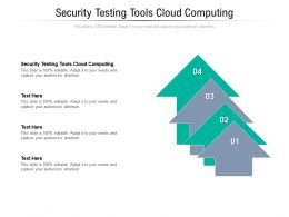 Security Testing Tools Cloud Computing Ppt Powerpoint Presentation Infographic Template Cpb