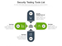 Security Testing Tools List Ppt Powerpoint Presentation Layouts Graphics Tutorials Cpb