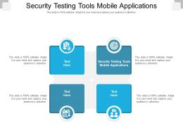Security Testing Tools Mobile Applications Ppt Powerpoint Presentation Outline Example Cpb