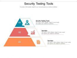 Security Testing Tools Ppt Powerpoint Presentation Microsoft Cpb