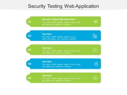 Security Testing Web Application Ppt Powerpoint Presentation Model Format Cpb