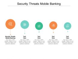 Security Threats Mobile Banking Ppt Powerpoint Presentation Gallery Icon Cpb