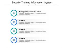 Security Training Information System Ppt Powerpoint Presentation Pictures Influencers Cpb