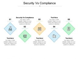 Security Vs Compliance Ppt Powerpoint Presentation Slides Graphics Cpb