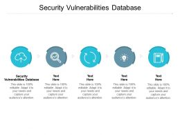 Security Vulnerabilities Database Ppt Powerpoint Presentation Icon Graphics Pictures Cpb
