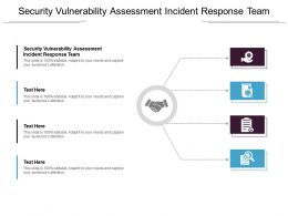 Security Vulnerability Assessment Incident Response Team Ppt Powerpoint Presentation File Cpb