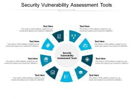 Security Vulnerability Assessment Tools Ppt Powerpoint Presentation Styles Influencers Cpb