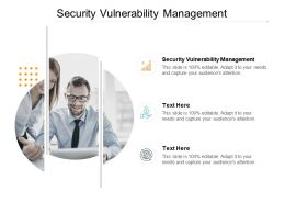Security Vulnerability Management Ppt Powerpoint Presentation Infographic Template Vector Cpb