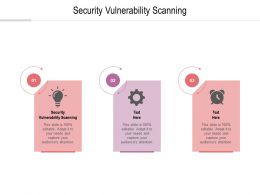 Security Vulnerability Scanning Ppt Powerpoint Presentation Inspiration Rules Cpb