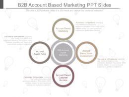 See B2b Account Based Marketing Ppt Slides
