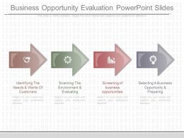 See Business Opportunity Evaluation Powerpoint Slides