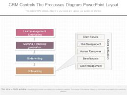 See Crm Controls The Processes Diagram Powerpoint Layout