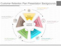 See Customer Retention Plan Presentation Backgrounds