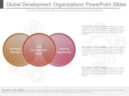 See Global Development Organizations Powerpoint Slides
