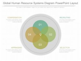 See Global Human Resource Systems Diagram Powerpoint Layout