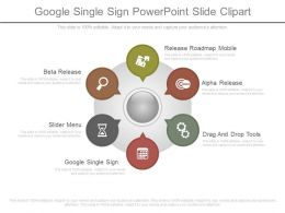 See Google Single Sign Powerpoint Slide Clipart