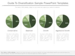 See Guide To Diversification Sample Powerpoint Templates