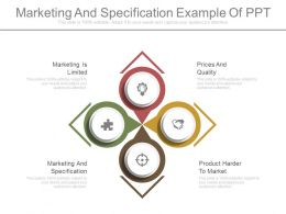 See Marketing And Specification Example Of Ppt
