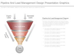 See Pipeline And Lead Management Design Presentation Graphics